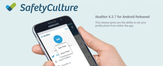 iAuditor android 4.2.7 you can now add a profile photo within the app.